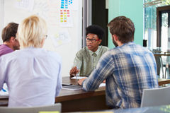 Manager Leading Creative Brainstorming Meeting In Office Royalty Free Stock Image