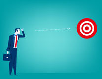 Manager looking for plan business target. Concept business illustration. Vector flat Royalty Free Stock Photography