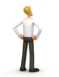 Manager looks into the distance. Illustration of an abstract character on a white background for use in presentations, etc Royalty Free Stock Image