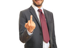 Manager making a gesture. Man in suit making a gesture Stock Photos