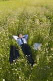 Manager on the meadow Stock Image