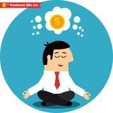 Manager meditating on money and success Stock Images
