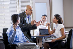 Manager Meeting With Office Workers, Directing Royalty Free Stock Images