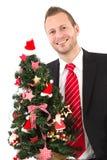 Manager met Kerstmisboom Royalty-vrije Stock Foto's