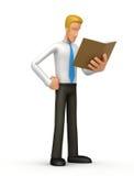 Manager mit Buch Lizenzfreies Stockbild
