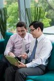 Manager mit digitaler Tablette Lizenzfreie Stockbilder