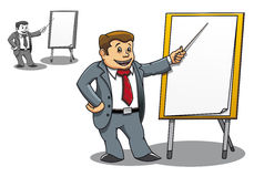 Manager near the board Stock Photos