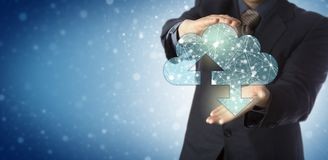 Manager Offering Cloud Containing Connected Nodes stock photography