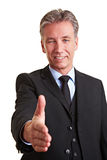 Manager offering a handshake Royalty Free Stock Photo