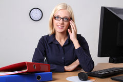 Manager in office Stock Photos