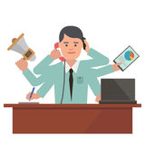 Manager in the office Stock Image