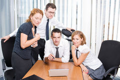 Manager with office workers Royalty Free Stock Photography