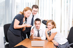 Manager with office workers on meeting Royalty Free Stock Images