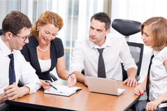 Manager with office workers on meeting Stock Photography