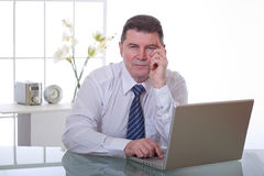 Manager op het werk royalty-vrije stock fotografie