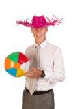 Manager op vakantie Stock Foto