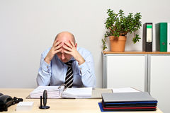 Manager is overburdened stock photography