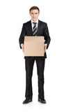 Manager with parcel box Stock Photo