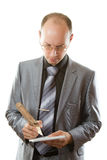 Manager and pencil Royalty Free Stock Image