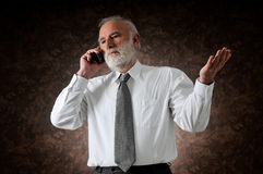Manager in phone Royalty Free Stock Photography