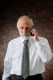 Manager in phone Royalty Free Stock Images