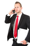 Manager on phone Stock Photography