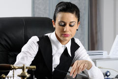 Manager Planning And Evaluating Stock Image