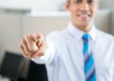 Manager Pointing At You Royalty Free Stock Photos