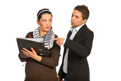 Manager with pregnant secretary Royalty Free Stock Photo