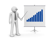 Manager on presentation Stock Images