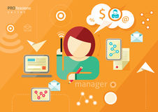 Manager profession. Workplace office desk Royalty Free Stock Photos