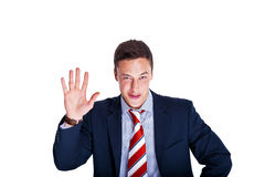 Manager raising hand Stock Images