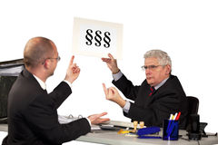 Manager refusing employees request Royalty Free Stock Image
