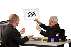 Manager refusing salary increase Royalty Free Stock Image