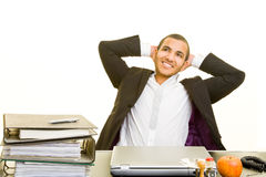 Manager relaxing Royalty Free Stock Photo