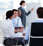 Manager reporting sales figures Stock Photography