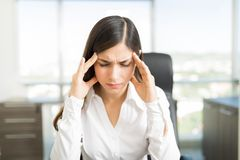Manager Representing Stressful Job Condition stockfotografie