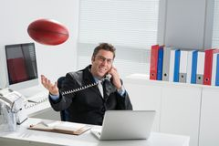 Manager with a rugby ball Stock Photography