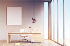 Manager`s office with framed poster, toned Royalty Free Stock Photos