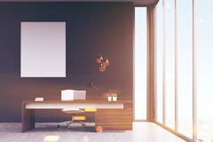 Manager`s office with a poster, toned Royalty Free Stock Photo