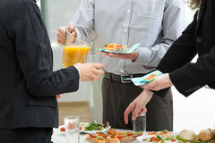 Manager's party in office Royalty Free Stock Images