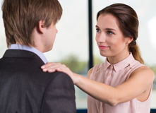 Manager satisfied with new employee Royalty Free Stock Photos