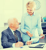 Manager and secretary working Royalty Free Stock Photo