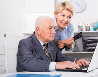 Manager and secretary working Stock Image