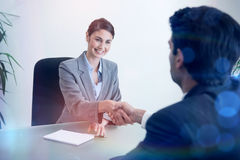 Manager shaking the hand of a customer Stock Image