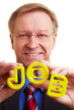 Manager showing a job Royalty Free Stock Image