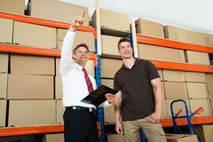 Manager Showing Something To His Worker Stock Photography