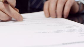 Manager Signs Contract stock footage