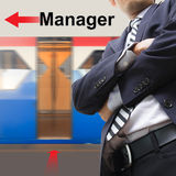 Manager on the sky train station Royalty Free Stock Photo