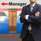 Manager on the sky train station Stock Photography